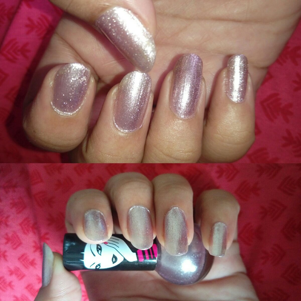 Elle18 Nail Pops Shade No 08 Review, Photos- NOTD, Glittery Shimmer ...